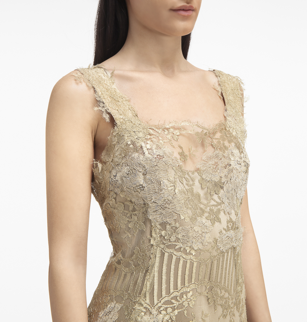 Lace Dress , 100% silk , two pieces